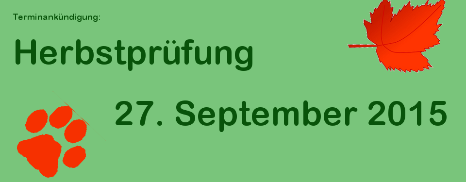 Herbstprüfung 2015