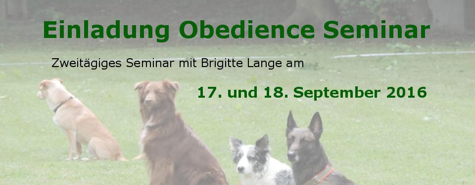 Obedience Seminar